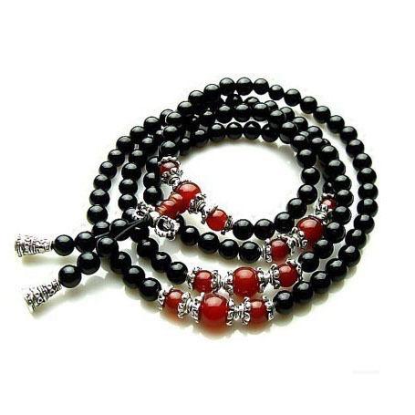 Natural black onyx/Agate bracelet men multi layer jade fashion bracelets men and women can bring fine jewelry(China (Mainland))