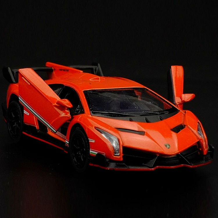High Simulation Exquisite Diecasts & Toy Vehicles: KiNSMART Car Styling Veneno Sports Car 1:36 Alloy Diecast Car Model Toy Car(China (Mainland))