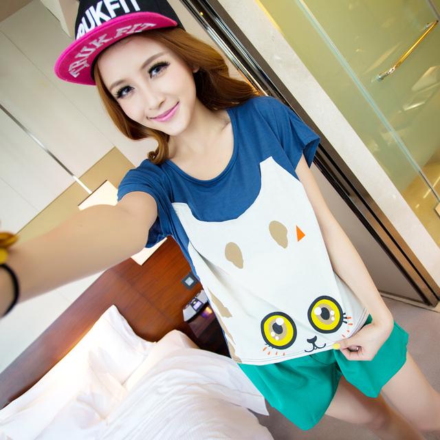 Xiaxin fresh batwing sleeve comfortable 100% cotton short-sleeve T-shirt