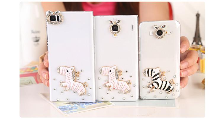 new Style Rhinestone Diamond Blink Crystal zebra Phone Cover Case For Xiaomi Hongmi Note,#xm-046(China (Mainland))