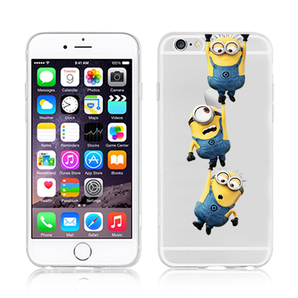 despicable me yellow minion design case cover for iphone 6. Black Bedroom Furniture Sets. Home Design Ideas