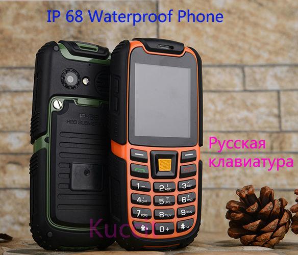 Original S6 Long standby GSM Senior old man outdoor IP68 Rugged Waterproof phone Russian Arabic Keyboard Dual sim B36 A8i a11(China (Mainland))