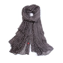 Fashion Classic Female Soft Viscose Long Scarves Dot Pattern Printing Scarf Women Beach Shawl Bandana(China (Mainland))