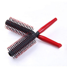 Best Price Delicate Heat Resistant Red Hair Brush Plastic Curly Hair Styling Hairdressing Comb Brushes Hairbrush Styling Tools(China (Mainland))