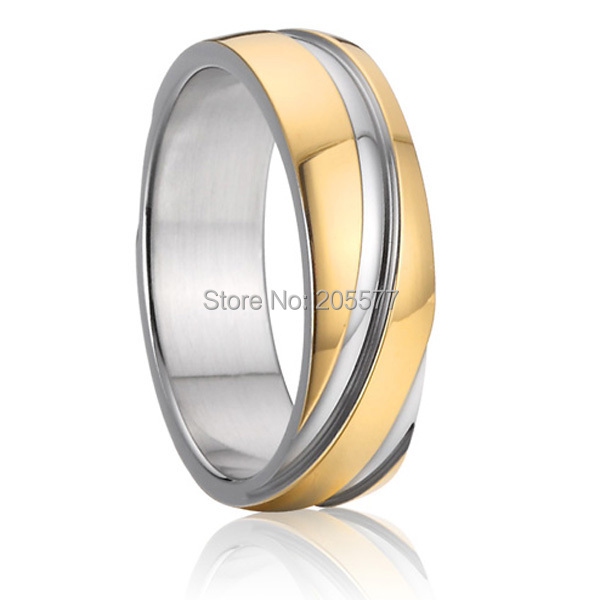 6mm unique mens and womens genuine titanium rings