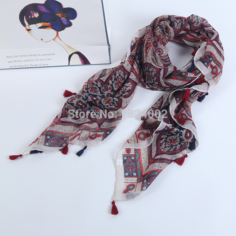 The new color beach towel sunscreen long scarf shawl scarves in autumn and winter spring and autumn female big Chiffon gp