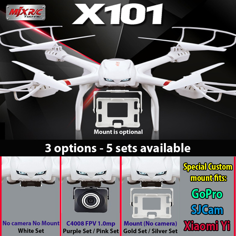 MJX X101 quadcopter drone 2.4G RC 6-axis can add C4005 C4008 C4009 wifi camera FPV<br><br>Aliexpress