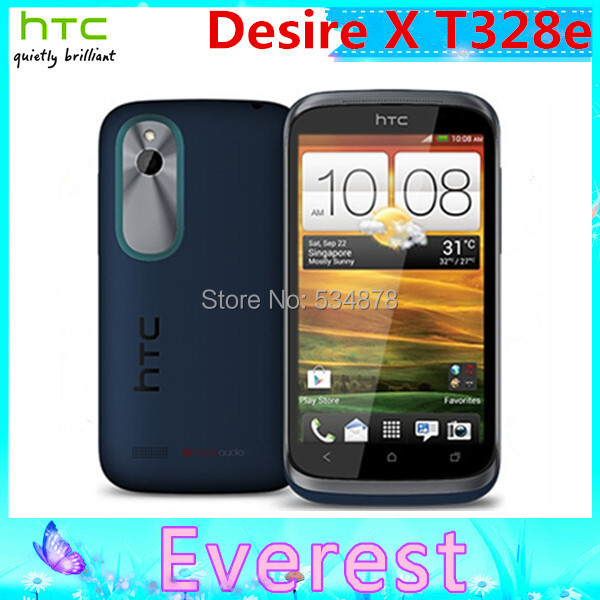 T328e Original Unlocked HTC Desire X Mobile phone Android WIFI GPS 3G 4.0'' Touchscreen 5 MP Dual-core Free Shipping(China (Mainland))