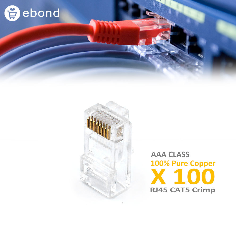 Wholesale Whole Sale Lots Free Shipping 100 Pieces Computer Cable Rj45 RJ 45 Connector rj45 Cat5e Rg45 rj45 Connector Lotes M20(China (Mainland))