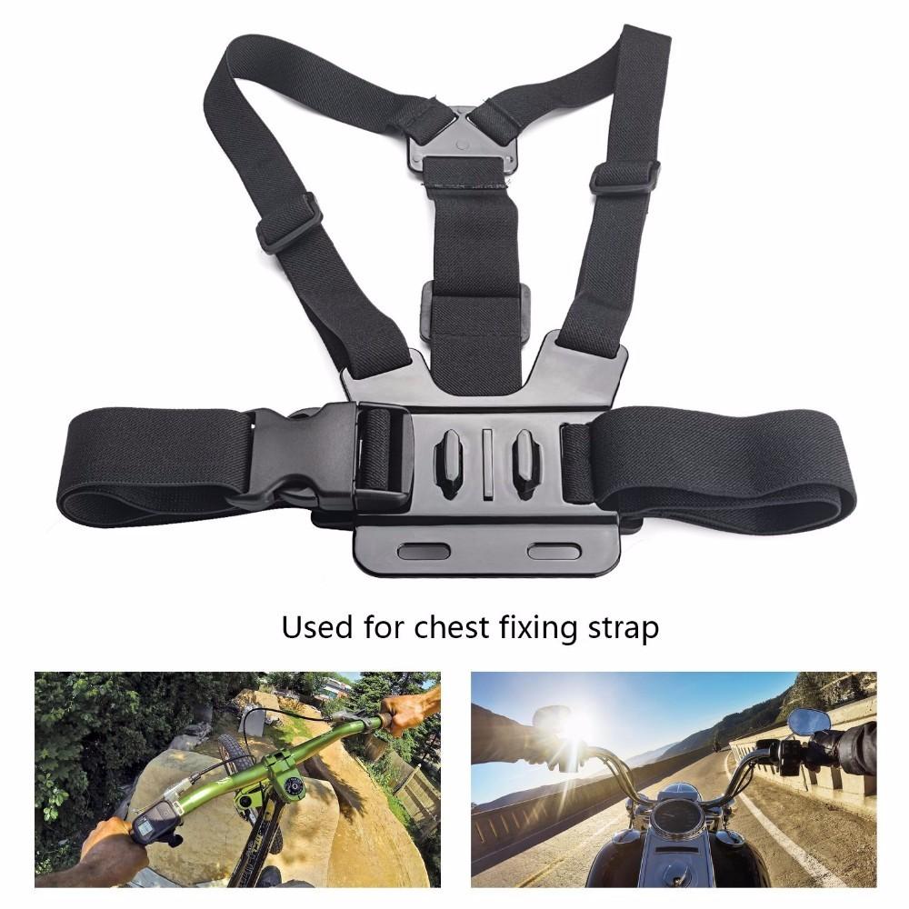 Gopro Accessories set Kit Head Mount Strap Wrist Belt Monopod Floating Bobber Containing EVA Box Hero4 3+ 2 xiaomi yi sjcam