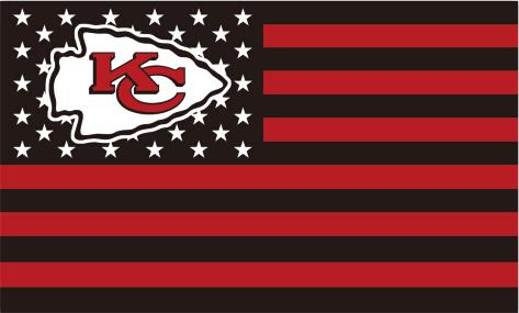 Kansas City Chiefs USA NFL Premium Team Football Flag wih US flag Black and Red 3X5 ft custom Banner 90x150cm Sport Outdoor NKC(China (Mainland))