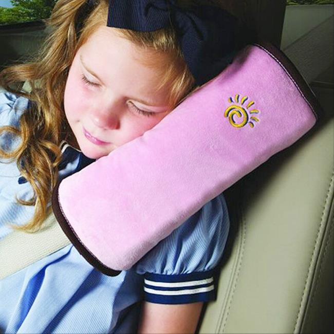 Usefully Pink Baby Kids Car Auto Seat Belt Cushion Shoulder Pad Pad Cover Auto Safety Children Protection Covers Pillow(China (Mainland))