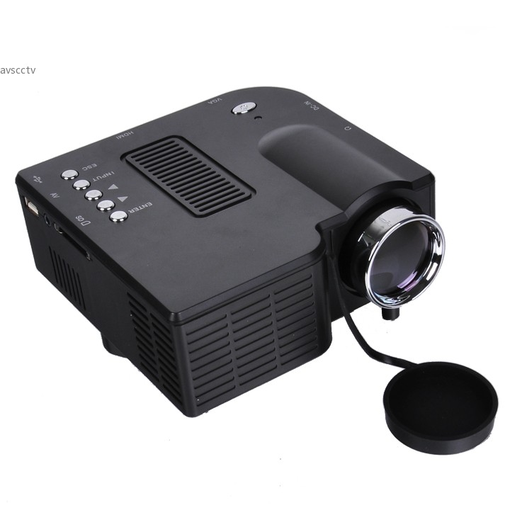Retail Portable Mini Multimedia LED Projector For Home Theater Computer Displayer Full HD Black EU Plug b7