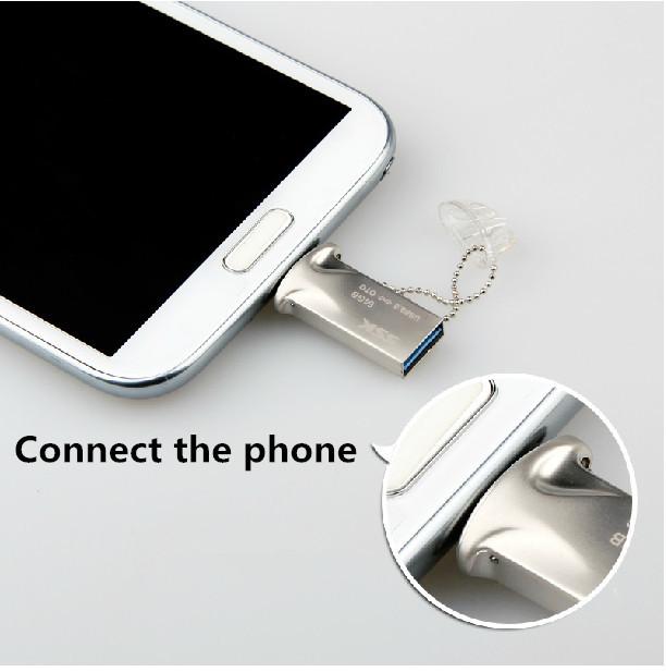 SSK 32GB OTG USB 3 0 Flash Drives Smart Phone Tablet PC External Storage Micro Pen