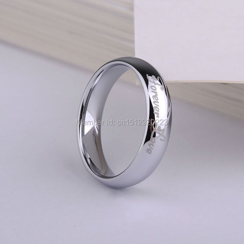 Simple Design Ring Tungsten Carbide Jewelry Engraving Forever Love White/Black/18K Gold/ Rose Gold(China (Mainland))