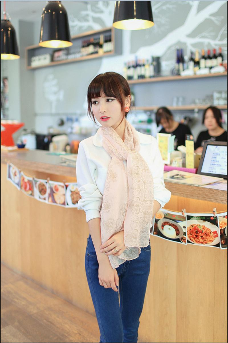 2015 Spring Style Fashion Vintage Girls Totem Print Scarves150 35CM High quality