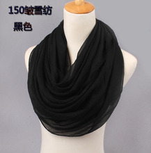 New arrival 2015 solid color silk chiffon scarfs spring and autumn women's solid color scarf free shipping cachecol(China (Mainland))