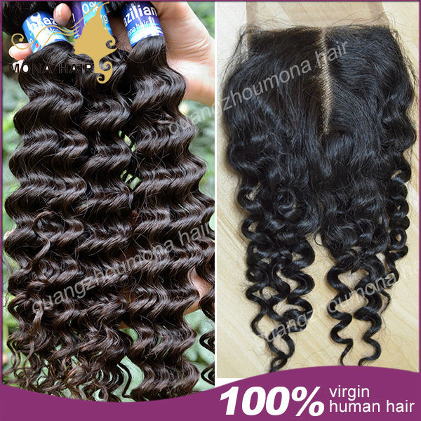 Brazilian virgin hair  lace closure with 3lots curly brazilian virgin hair 100% virgin brazilian hair closure free shipping<br><br>Aliexpress