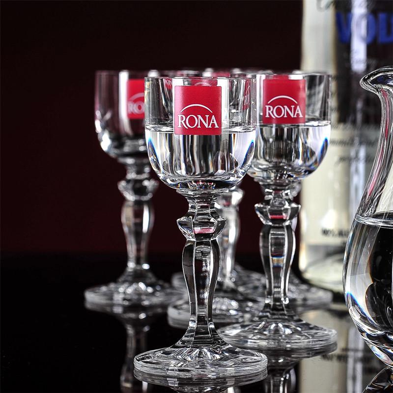 Фотография Cheap shipping! Winona Czech RONA lead-free crystal wine glass goblet Legs Diamond Moutai Cup