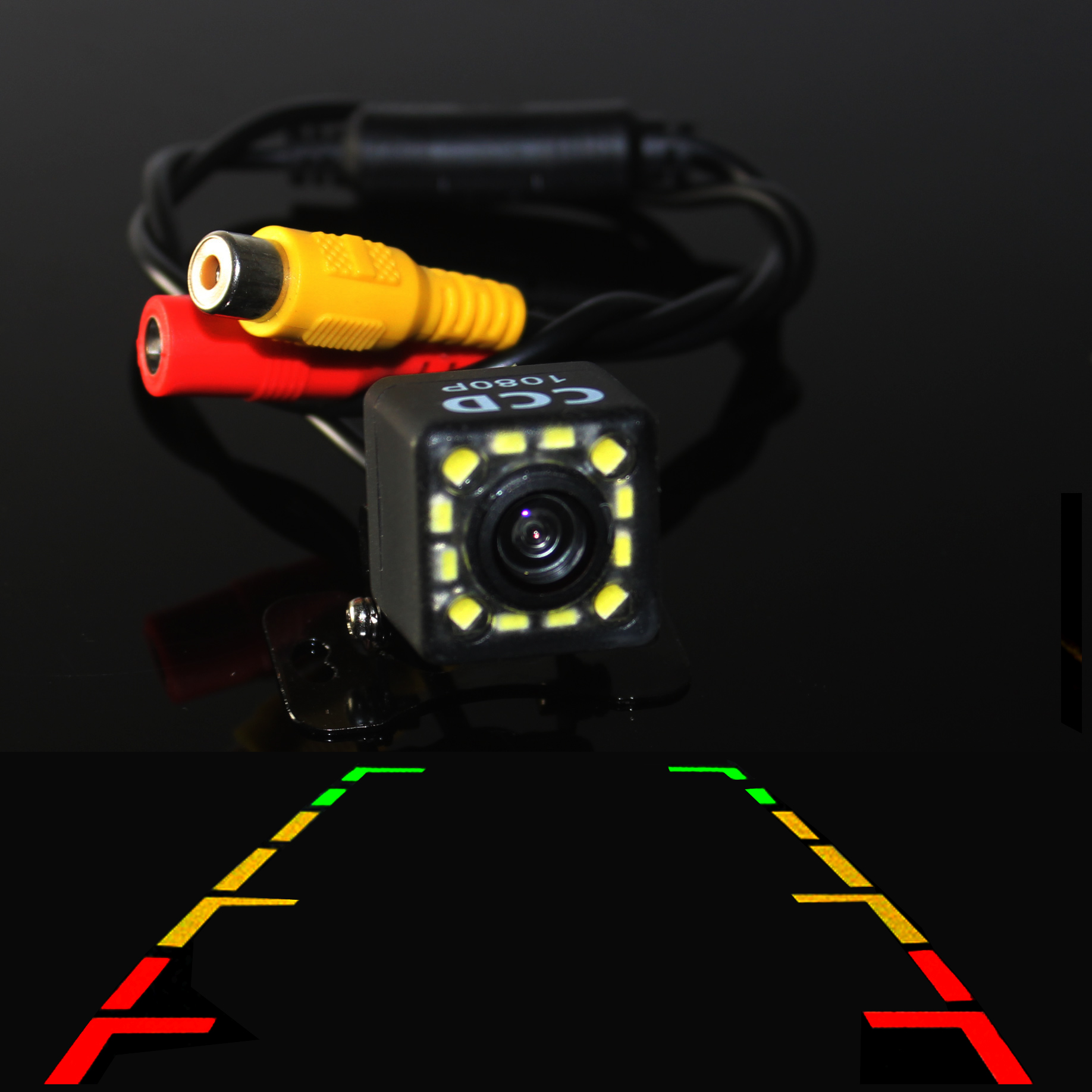 Rear view Camera Car Parking Assistance 100% HD Color Night Version Reverse Drive CCD Camera with 170'' Wide view Angle(China (Mainland))