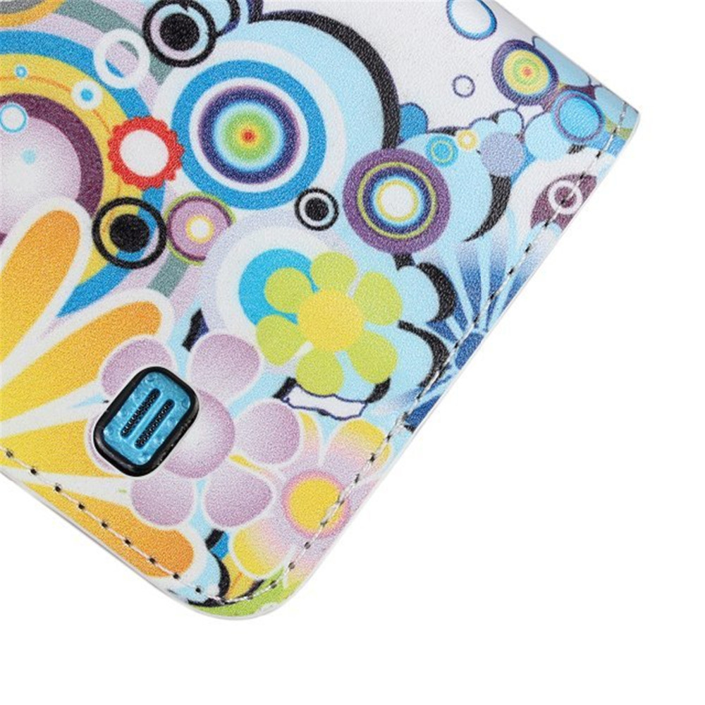 Cute Cartoon butterfly Leather For Samsung S5 Flip Cover For Samsung Galaxy S5 Case Wallet I9600 Original Phone Accessories