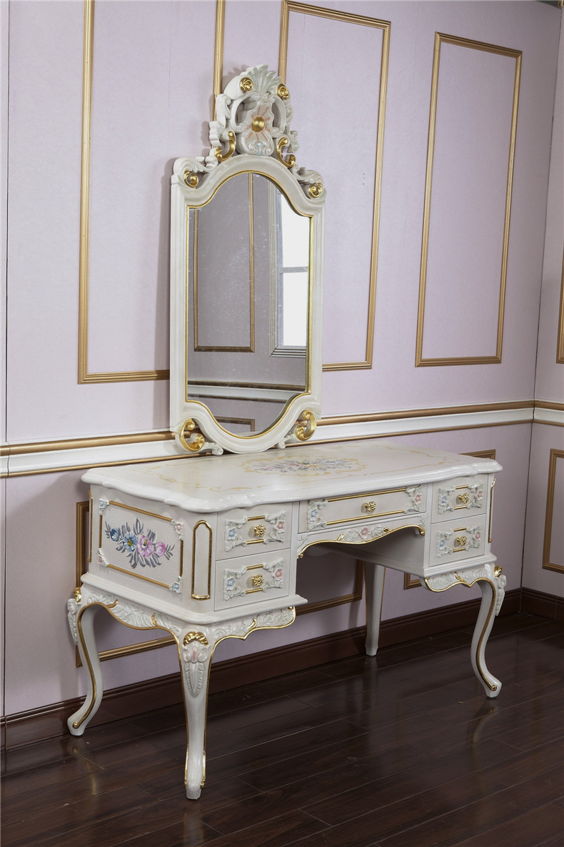 French Classical European-style Carved Wood Furniture More Than 1.3 Meters Dresser Desk Drawer Desk Special Spot(China (Mainland))