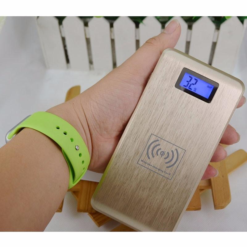 free shipping 2 in 1 QI wireless charger powerbank Universal External Battery 12000mah power bank 2 usb slot(China (Mainland))