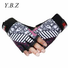 2016 New Brand Designer Mens' Sports Gloves Semi-finger Gym Mittens For Fitness For Men Women Luva Workout Guantes Eldiven GP102