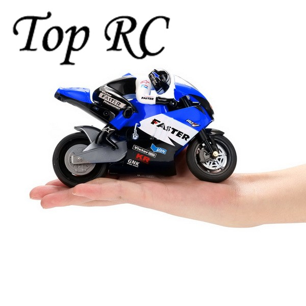 JXD 806 Remote Control RC Motorcycle 1:10 Scale Blue 2.4Ghz 4 Channel for Children Built-in Gyroscope Kids Boy Toy Gift BD