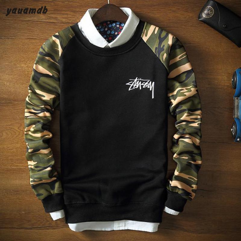 yauamdb men sweatshirt clothing 2016 spring/autumn man brand pullover tracksuits male Camouflage Printed Loose sportswear 63(China (Mainland))