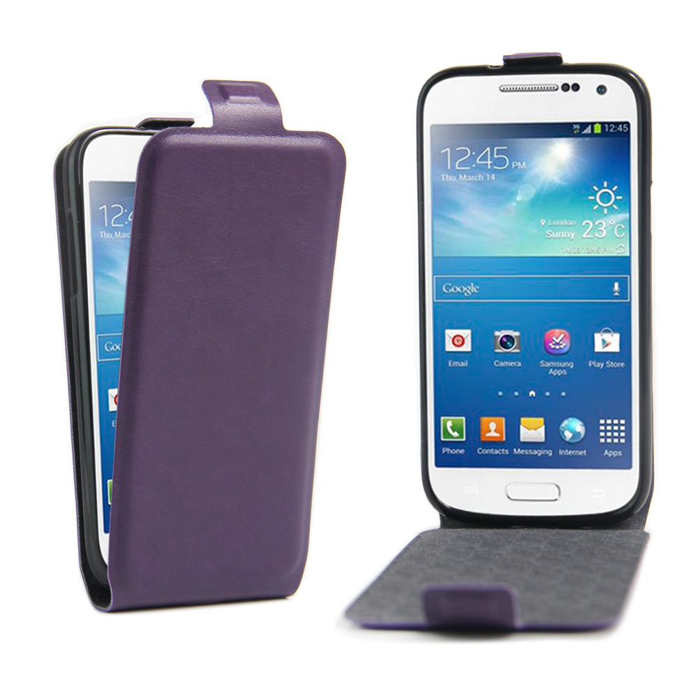 Fashion Wallet Flip Leather Case Samsung Galaxy S4 Mini i9190 Luxury Cell Phone Cover Card Holder Protective Phone Case