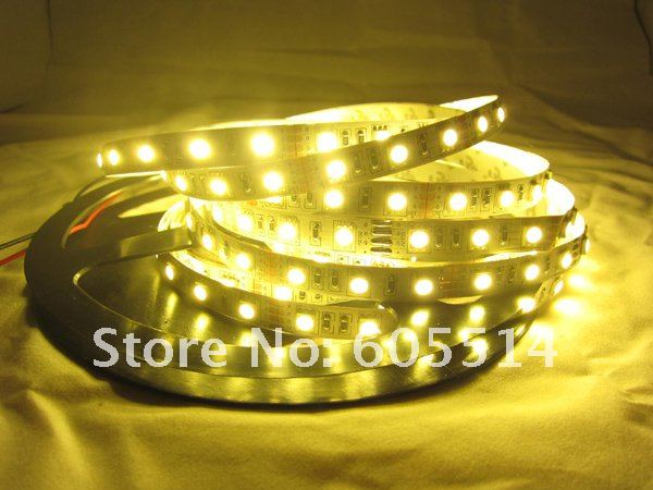 [Seven Neon] Free shipping 5050 60leds/meter WW IP20 led smd strip+12V 5A power adaptor for Akihiro(China (Mainland))