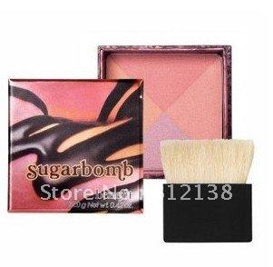 Free Shipping 100% Guaranteed  bt 4 colors sugar bomb powder with blush 12g, 6pcs/lot, hot selling