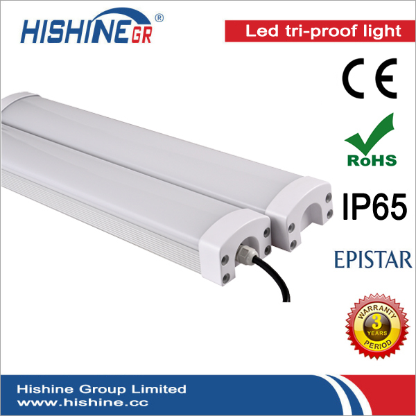 (24pcs/lot)Led 60w Triproof Batten Parking Lot Food production Lighting IP65 CE ROHS Approved AC85-265V With 3Years Warranty(China (Mainland))