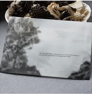 Translucent Envelopes Chinese retro style Ink Dan  decoration theme storage envelope 50 pcs/set / wholesale/ free shipping<br><br>Aliexpress