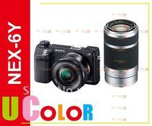 Genuine Sony NEX-6 NEX-6Y w/ 16-50mm +55-210mm 2 Lens Wi-Fi Camera(Hong Kong)