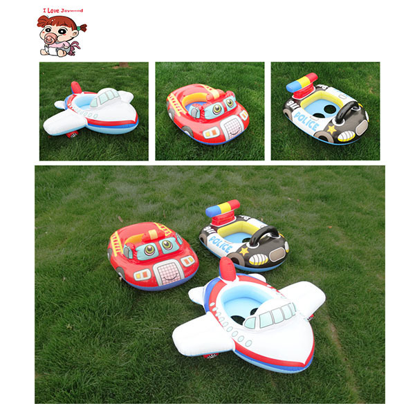 Cartoon Child Swimming Sit Circle Baby Swimming Pool Swim Seat Ring Float For 0-2 Years RattleInside,Fire Rescue, Patrol Boat(China (Mainland))