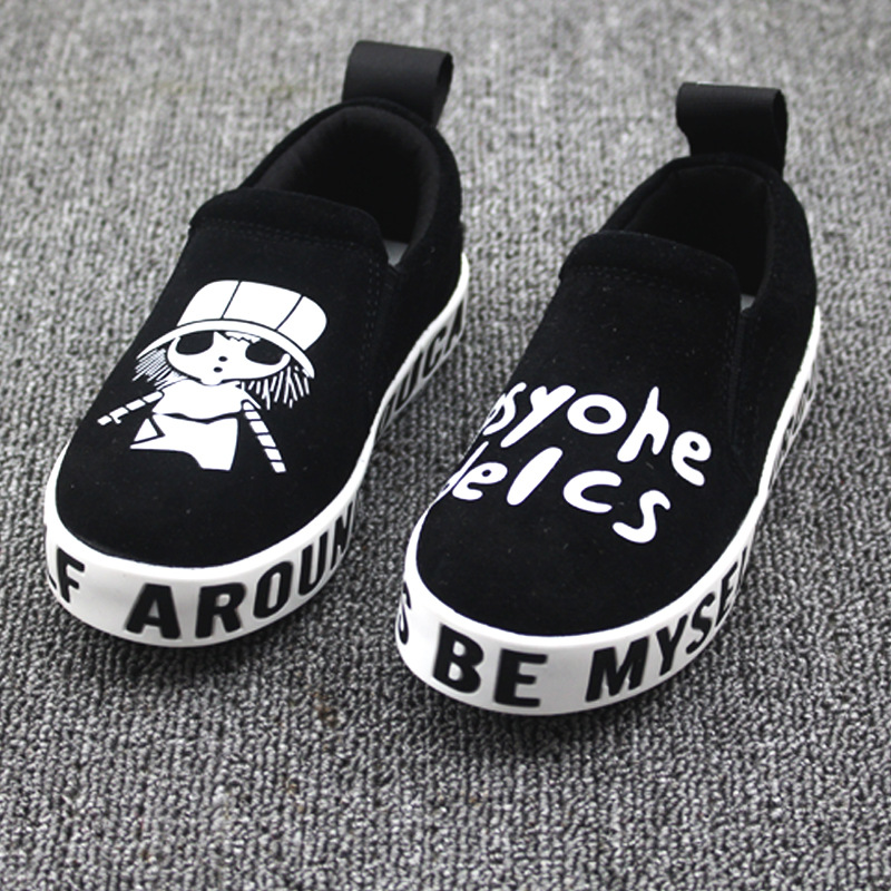 2015 the new leisure fashion child AB shoes for men and women fashion cartoon printing female children's shoes Leather sandals(China (Mainland))