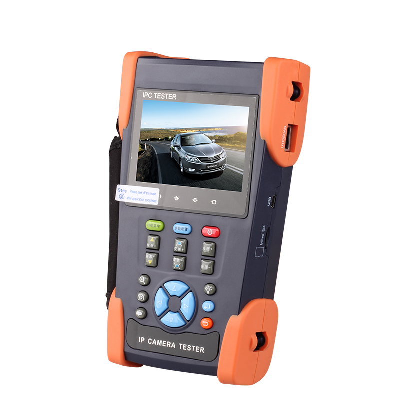 IPC-3500 Network engineering treasure camera analog and digital video monitor tester can change IP with 12v output(China (Mainland))