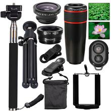 Buy 2016 New 10in1 Phone Camera Lens Kit 8x Telephoto Lens + Wide Angle + Macro Lens +Fish Eye +Selfie Stick Monopod + Mini Tripod for $16.11 in AliExpress store