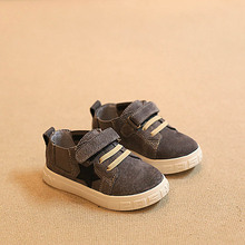 2016 spring kids black sneakers children genuine leather shoes boys fashion shoes girls brand sneakers toddler shoes bebe shoes(China (Mainland))