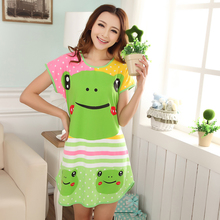 Free shipping ! new Cartoon mini Women Sleepwear Short Sleeve Sleepshirt Cute ladies Nightgowns