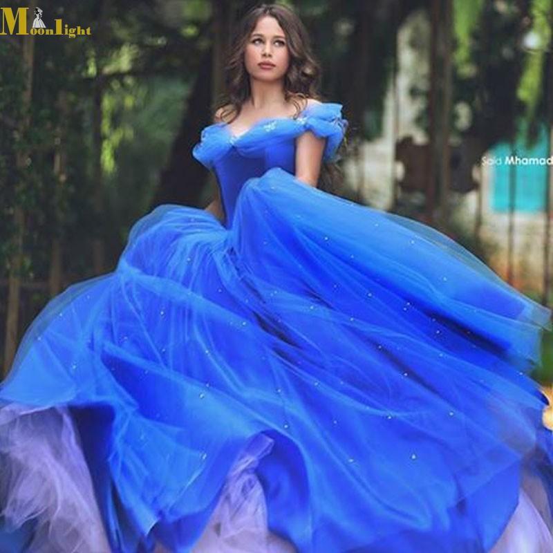 Royal Blue Wedding Dress Sweetheart Ball Gown Cinderellar