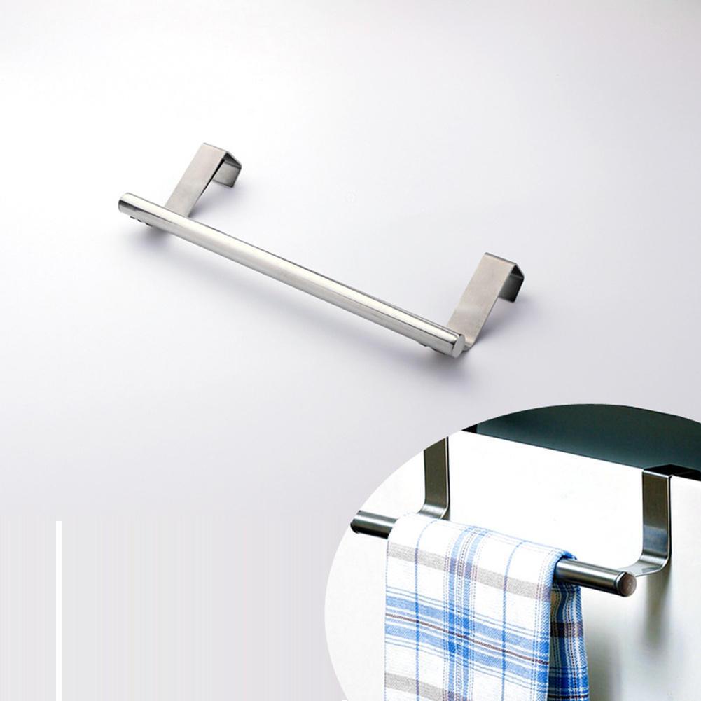 Stainless Steel Cabinet Hanger Over Door Kitchen Hook Towel Rail Hanger Bar Holder Drawer Storage Bathroom Tools(China (Mainland))