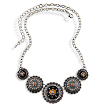 Collares Fashion 2015 Hot Sale Women Bohemia Style Enamel Beads Flowers Choker Chains Statement Necklace Ethnic