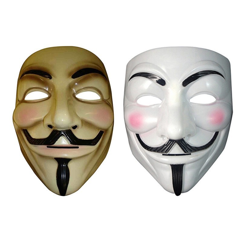 Hot Sale V for Vendetta Mask Guy Fawkes Anonymous Halloween Masks fancy dress costume superhero party masks YW3A-90_2