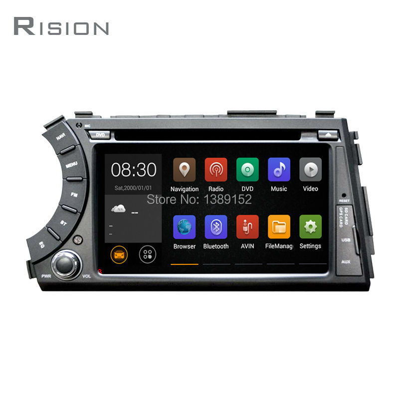 2Din Quad Core 1.6GHZ 7 Inch Android 5.1.1 Car DVD Player For SSANGYONG Kyron/Actyon With Wifi GPS Bluetooth Radio Free Map card(China (Mainland))