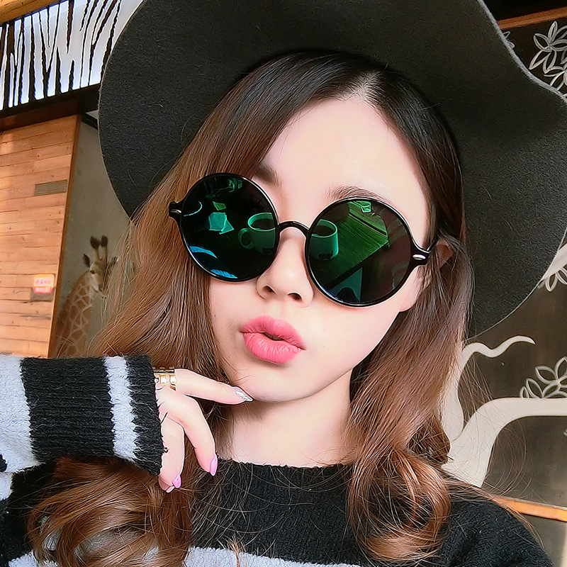 Sunglasses women sun glasses brand designer dazzle round lenses vintage steampunk glass retro large trendsetter frame 8 colors(China (Mainland))