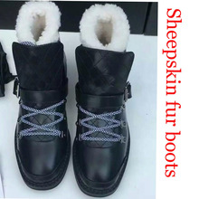 High Quality! genuine Sheepskin Real Fur 100% Wool women winter snow boots Brand logo boots Free Shipping australian boots(China (Mainland))