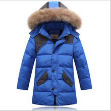 2016 winter boys white duck down jakcet thicken jackets boy coat male jacket big children's clothing outerwear hooded collar